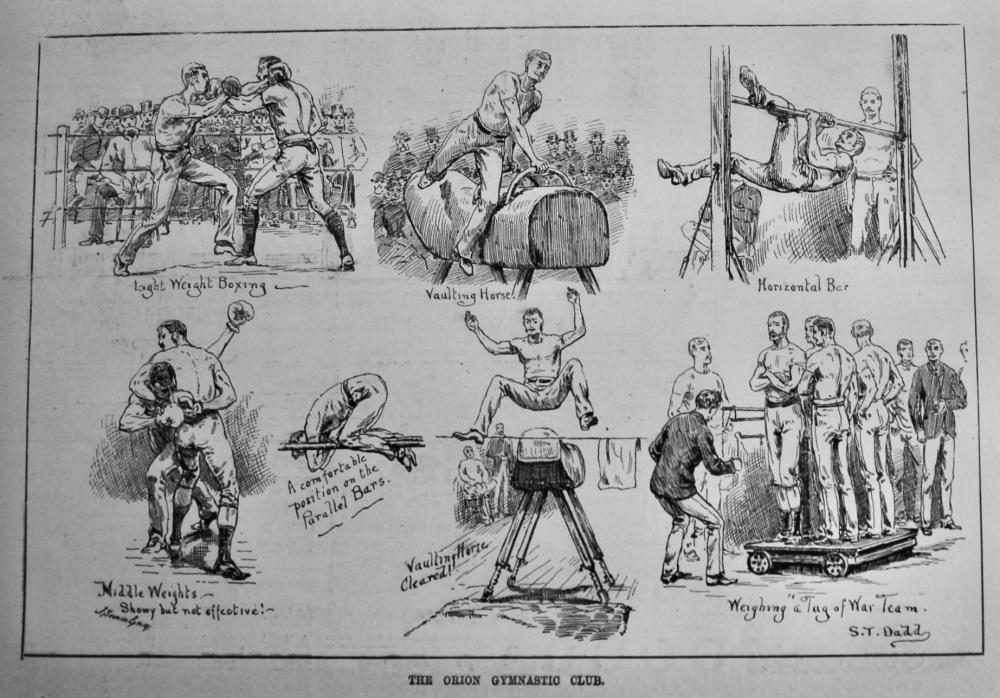 The Orion Gymnastic Club.  1887.