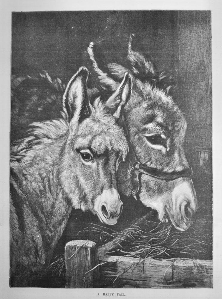 A Happy Pair.  1887.  (Donkeys)