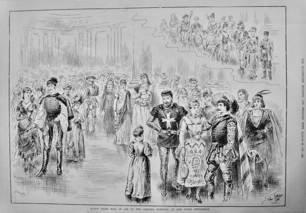 Fancy Dress Ball in Aid of the Chelsea Hospital at the Hotel Metropole.  1887.