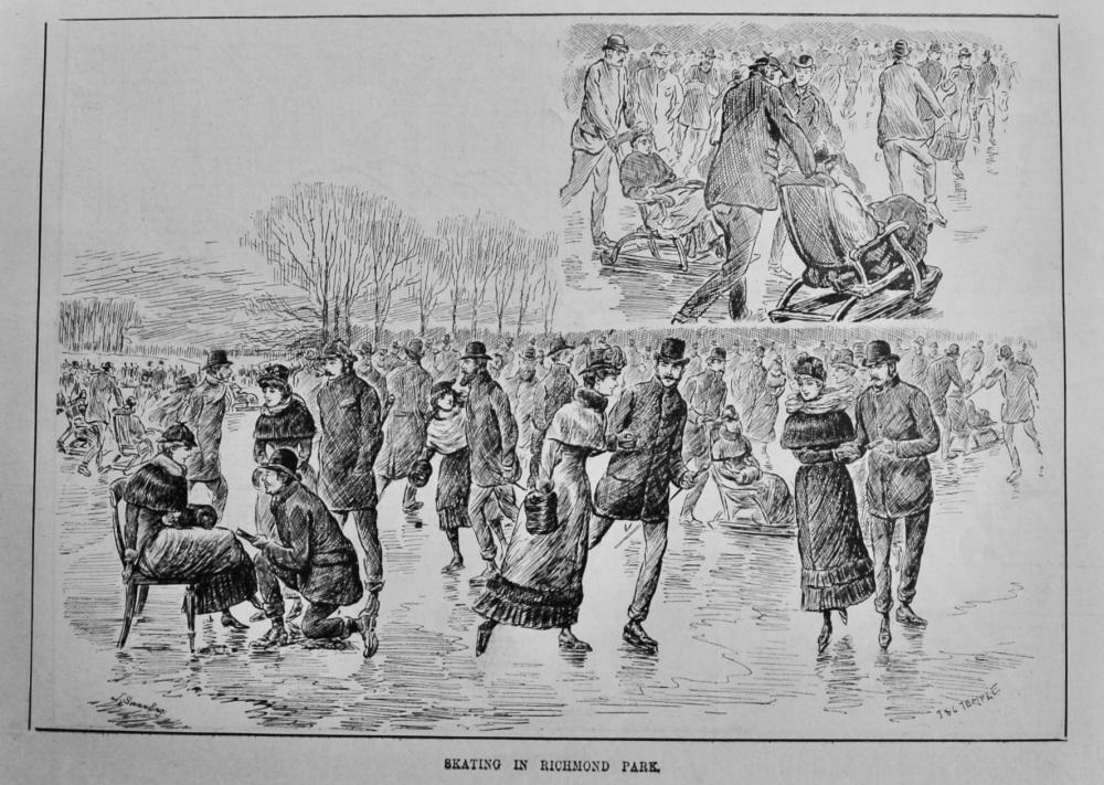 Skating in Richmond Park.  1887.