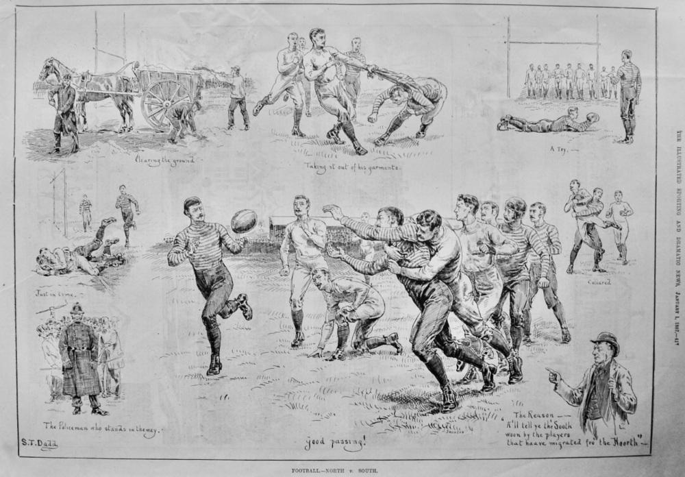 Football.- North  v.  South.  1887.