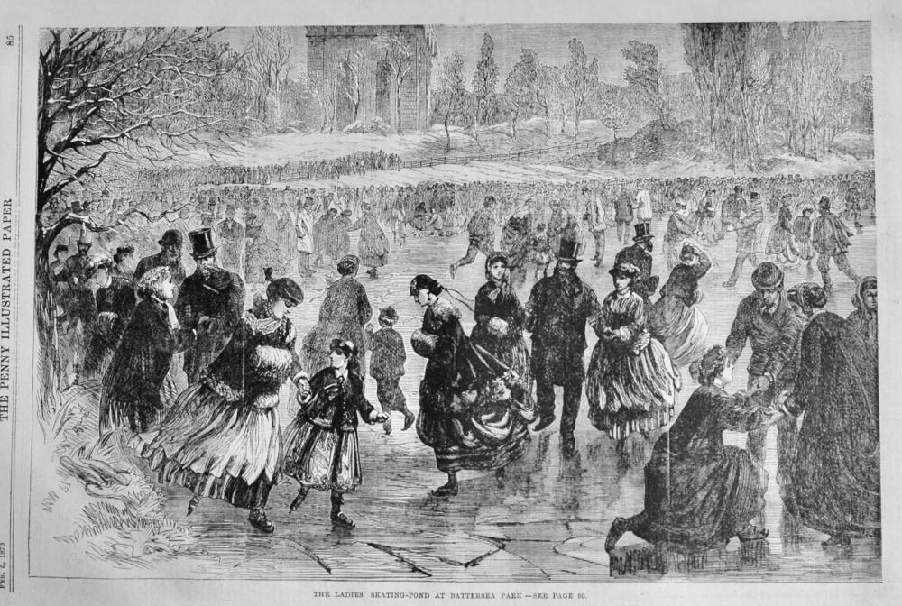 The Ladies' Skating-Pond at Battersea-Park.  1870.