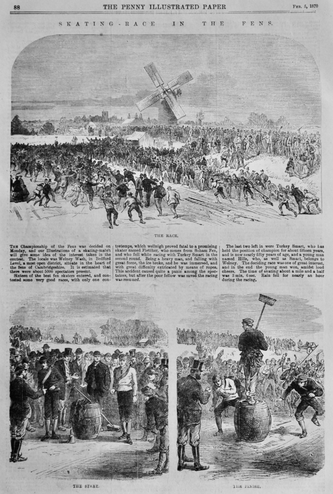 Skating-Race in the Fens.  1870.