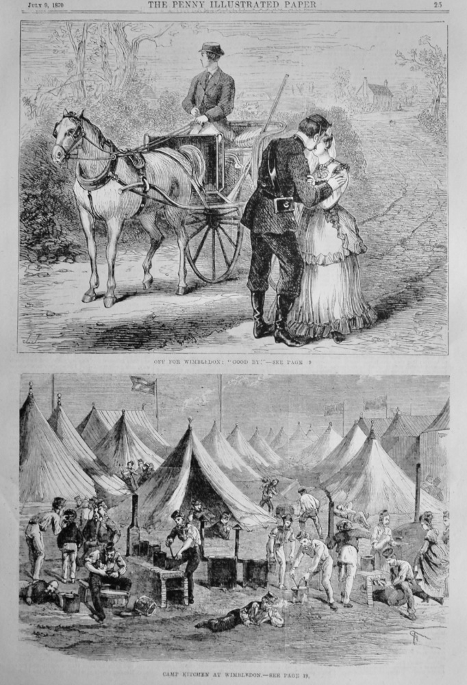 Rifle Shooting at Wimbledon.  1870.