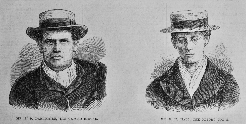 Mr. S. D. Darbishire, The Oxford Stroke.   &   Mr. F. H. Hall, The Oxford Cox'n.  (Rowing)  1870.