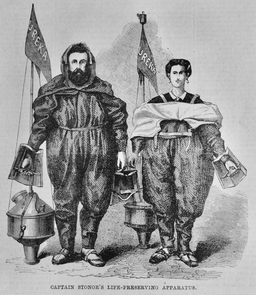 Captain Stonor's  Life-Preserving Apparatus.  1870.