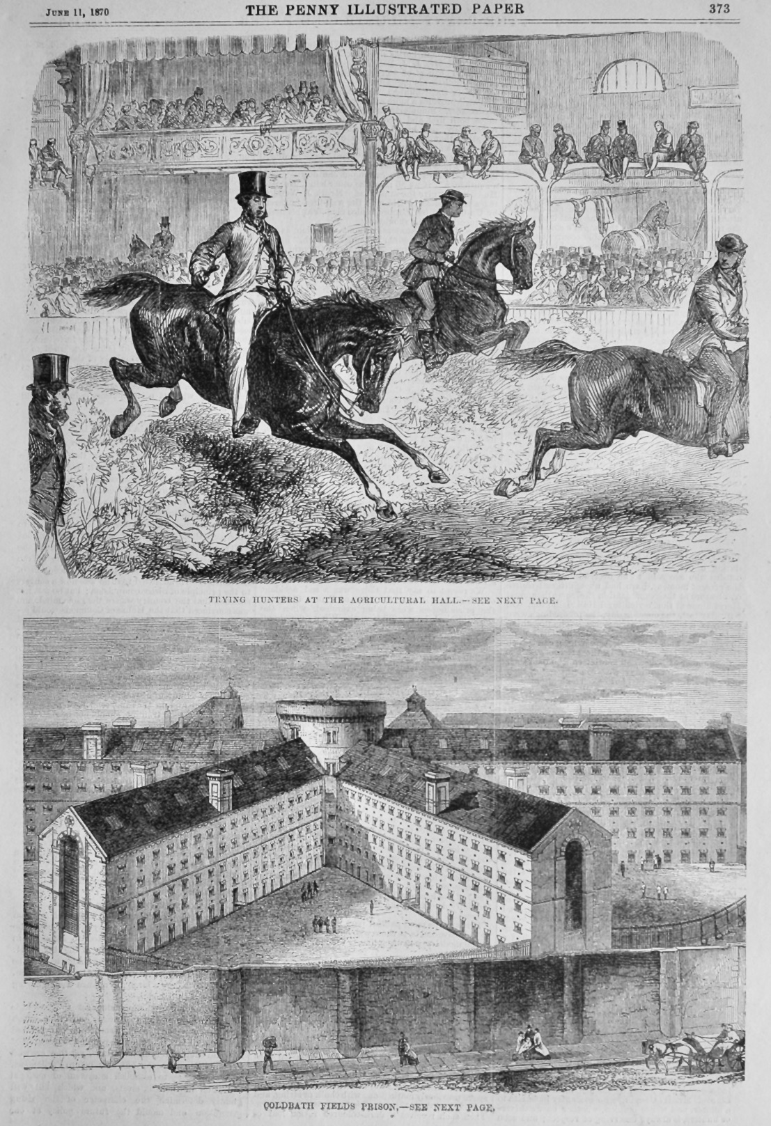 Coldbath Fields Prison.  1870.