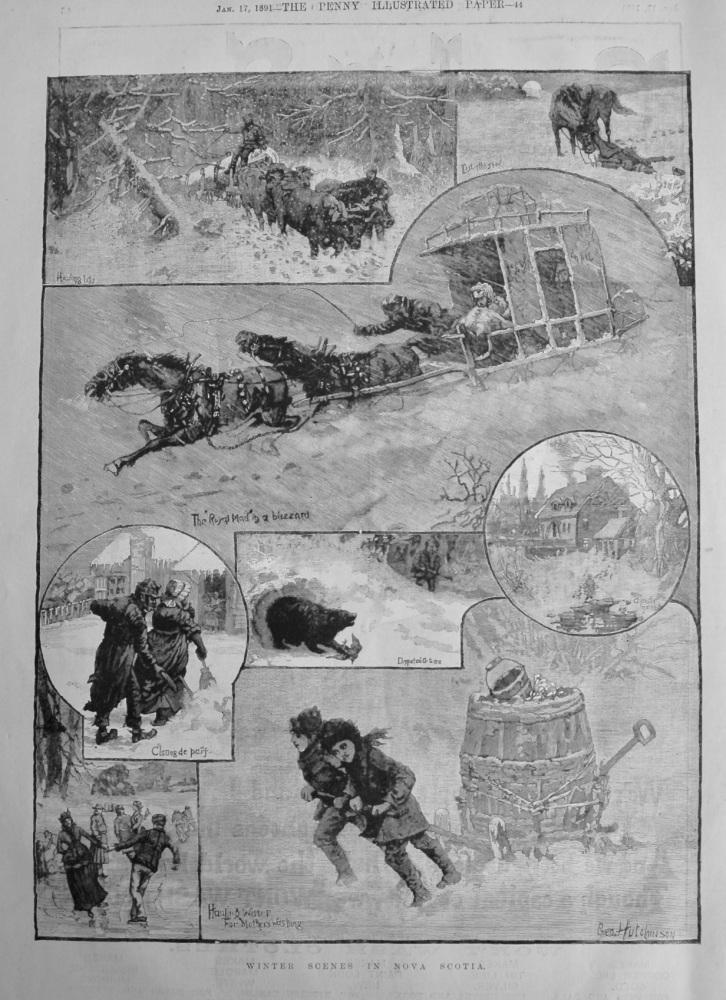 Winter Scenes in Nova Scotia.  1891.