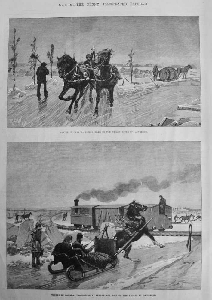 Winter in Canada.  1891.