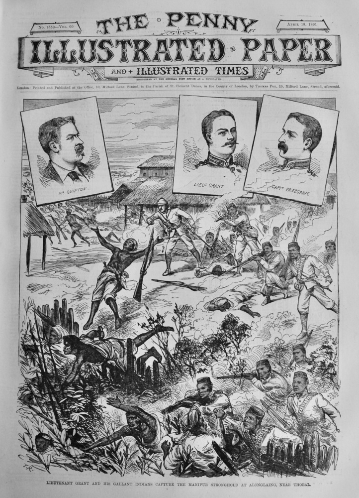 The Penny Illustrated Paper and Illustrated Times.  April 18th, 1891.