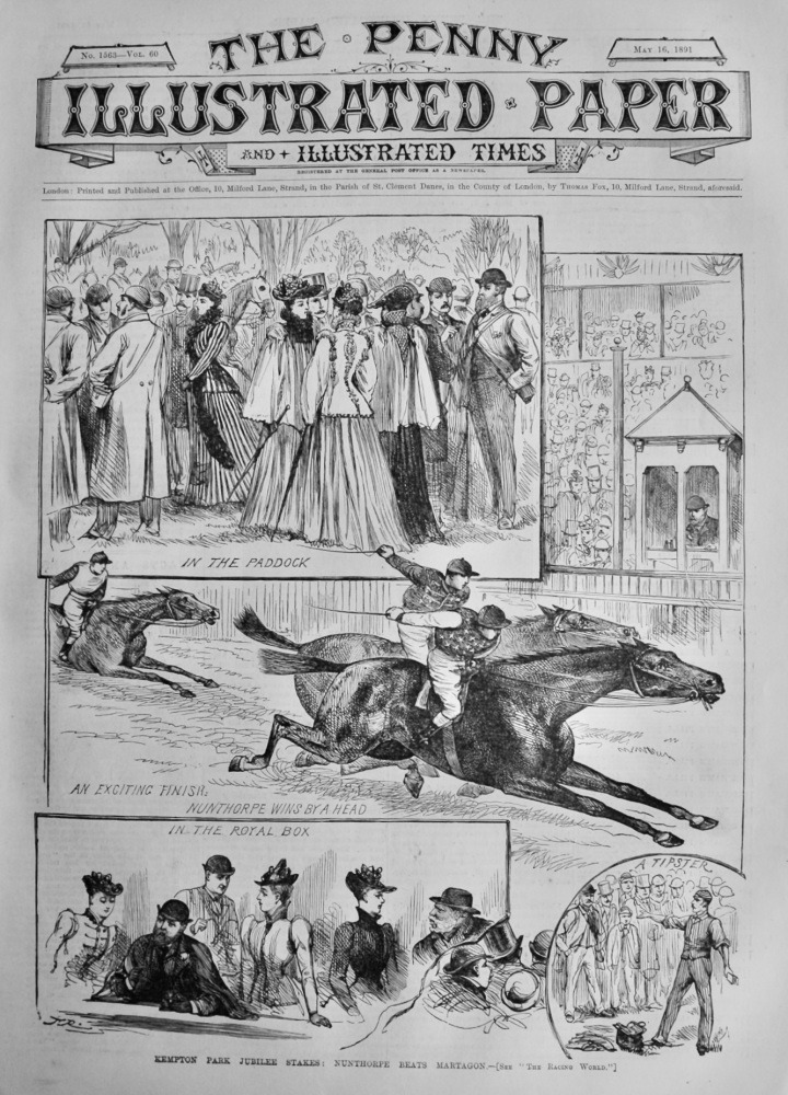 The Penny Illustrated Paper & Illustrated Times.  May 16th 1891.