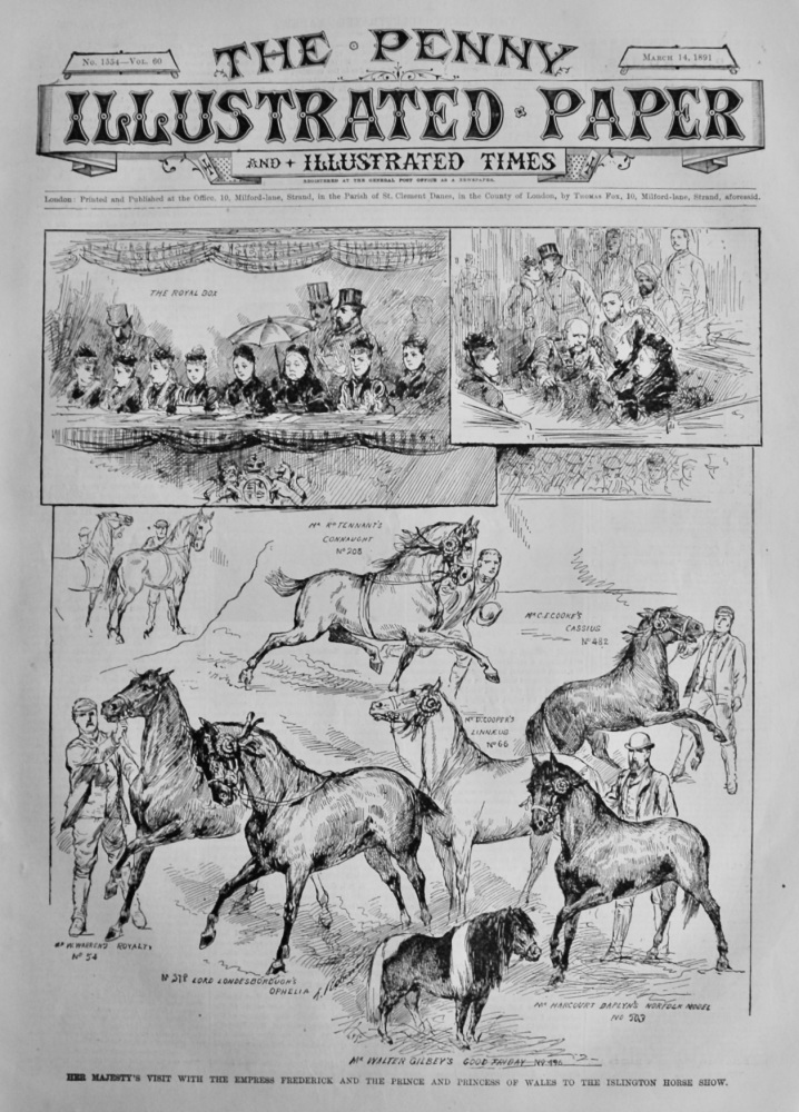 The Penny Illustrated Paper & Illustrated Times. March 14th, 1891.