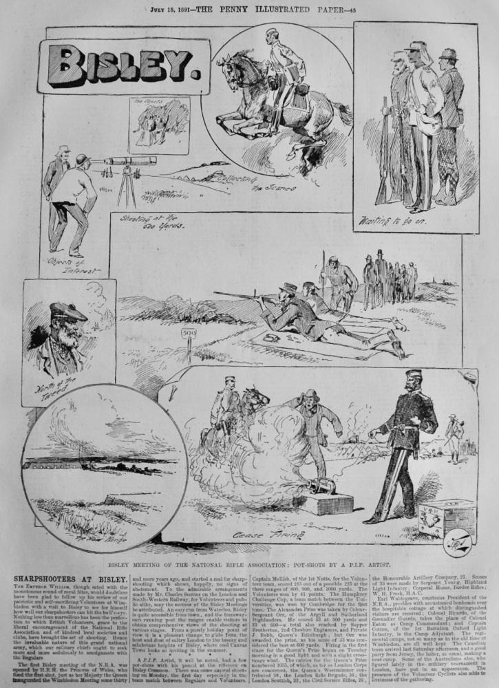 Sharpshooters at Bisley.  1891.