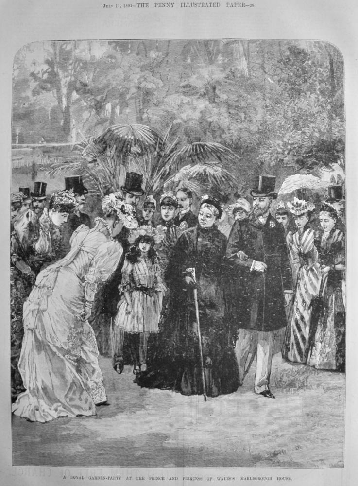 A Royal Garden-Party at the Prince and Princess of Wales's Marlborough House.  1891.