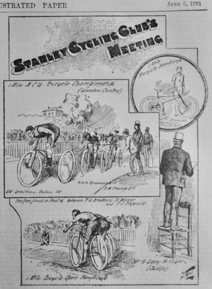 Stanley Cycling Club's Meeting.  1891.