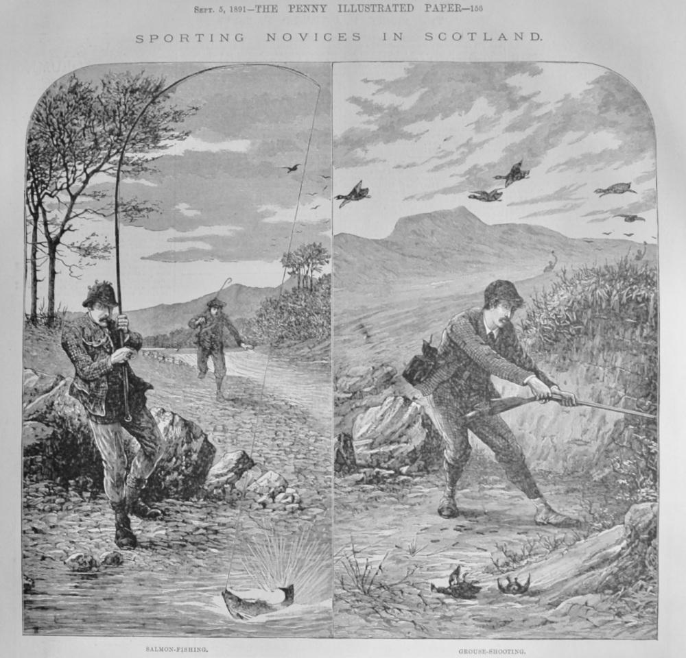 Sporting Novices in Scotland.  1891.