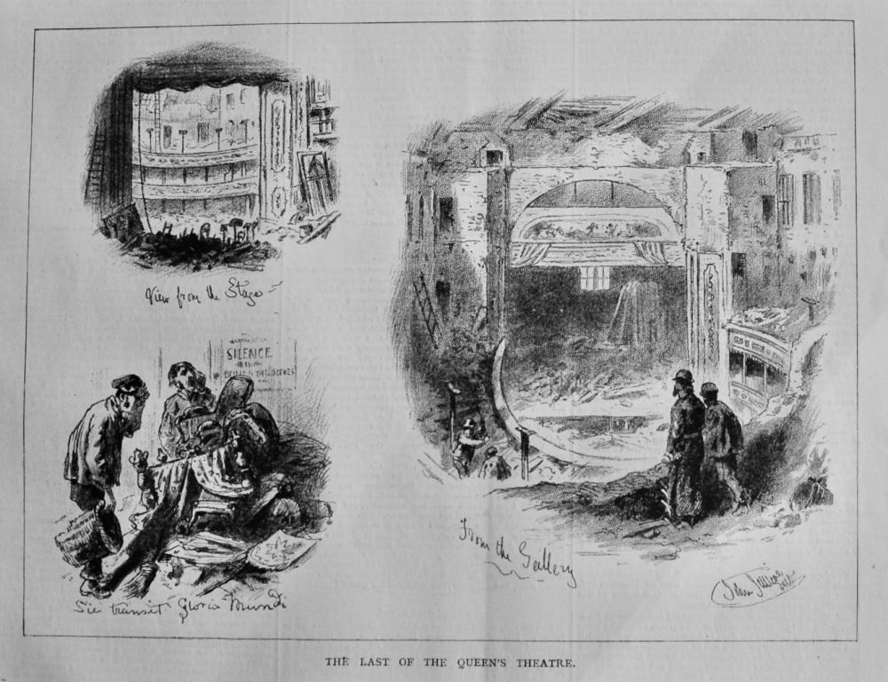 The Last of the Queen's Theatre.  1879.