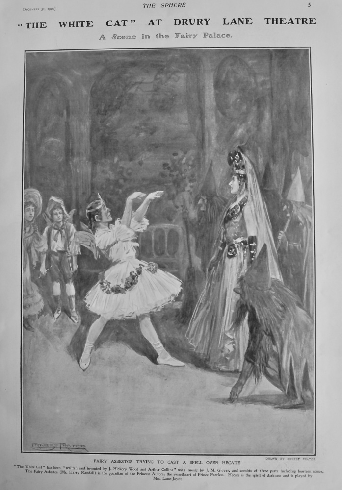 """""""The White Cat"""" at Drury Lane Theatre.  A Scene in the Fairy Palace.  1904."""