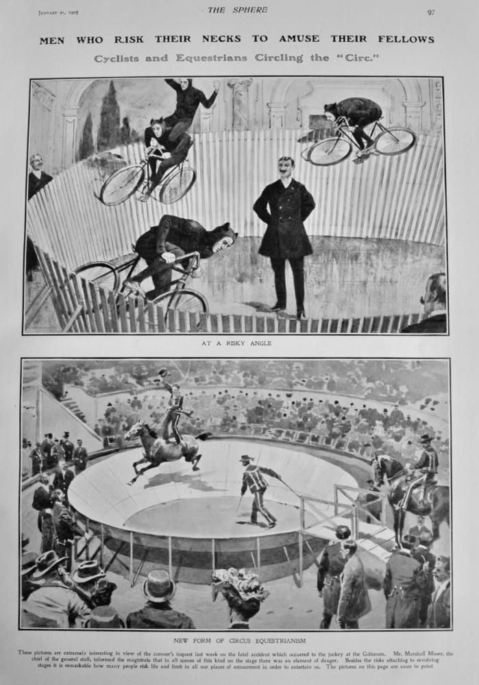 Men who Risk their Necks to Amuse their Fellows.  1905.