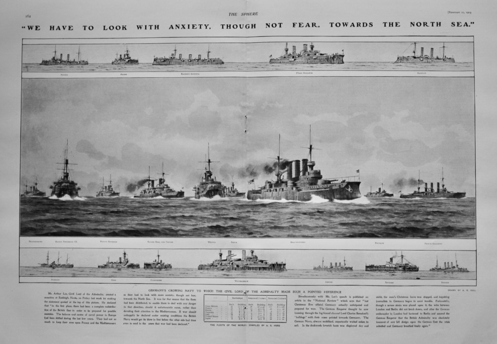"""""""We have to Look with Anxiety, though not Fear, towards the North Sea.""""  1905."""