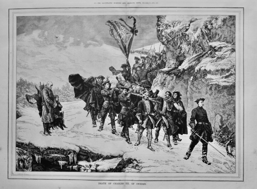 Death of Charles XII. of Sweden.