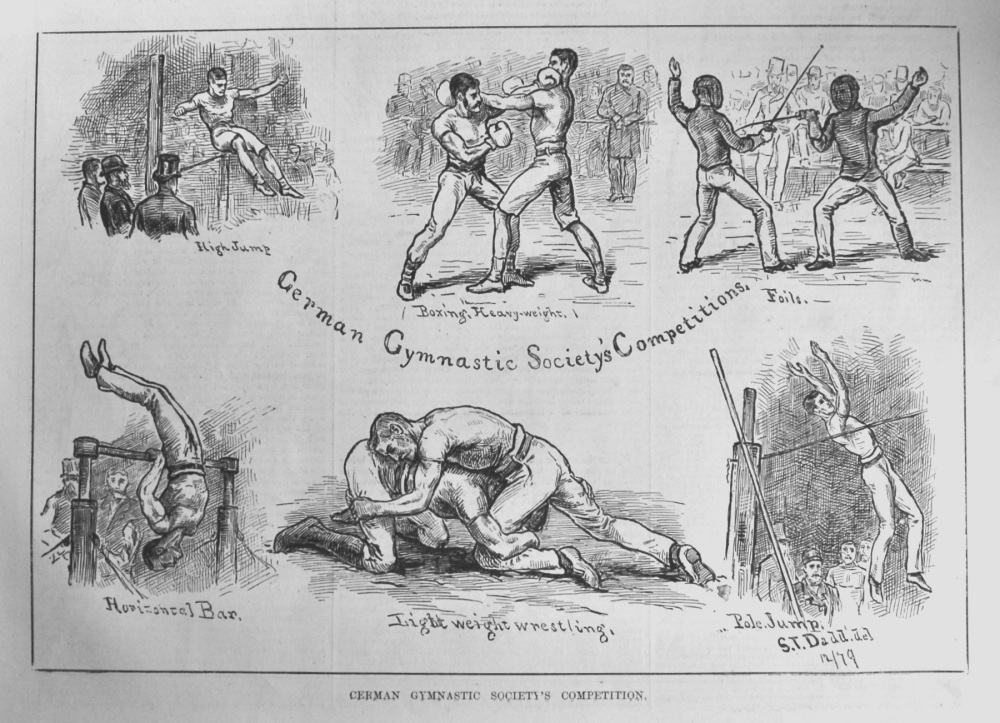 German Gymnastic Society's Competition.  1879.