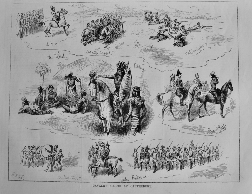 Cavalry Sports at Canterbury. 1879.