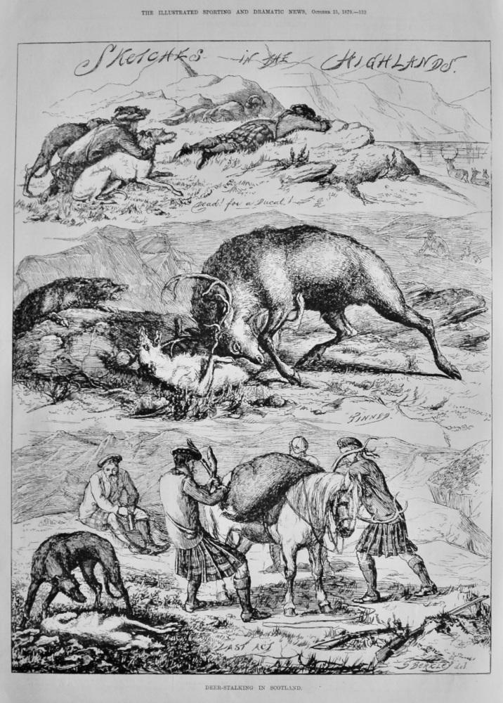 Deer-Stalking in Scotland.  1879.