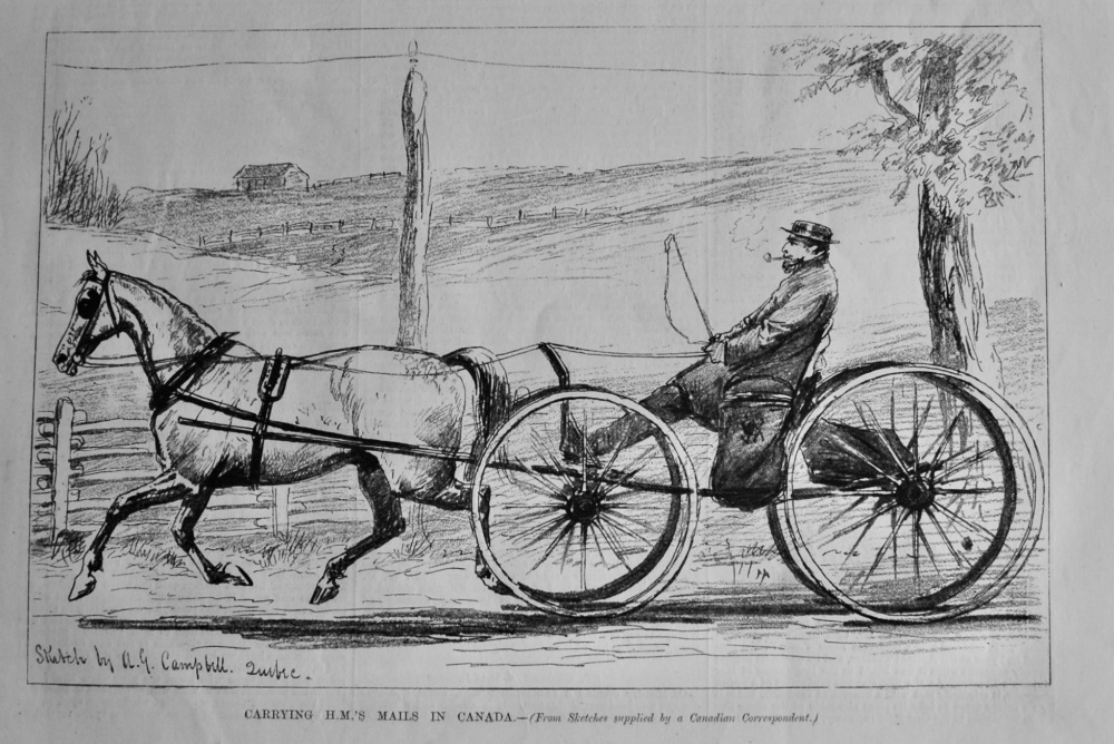 Carrying H.M.'S. Mails in Canada.  1879.
