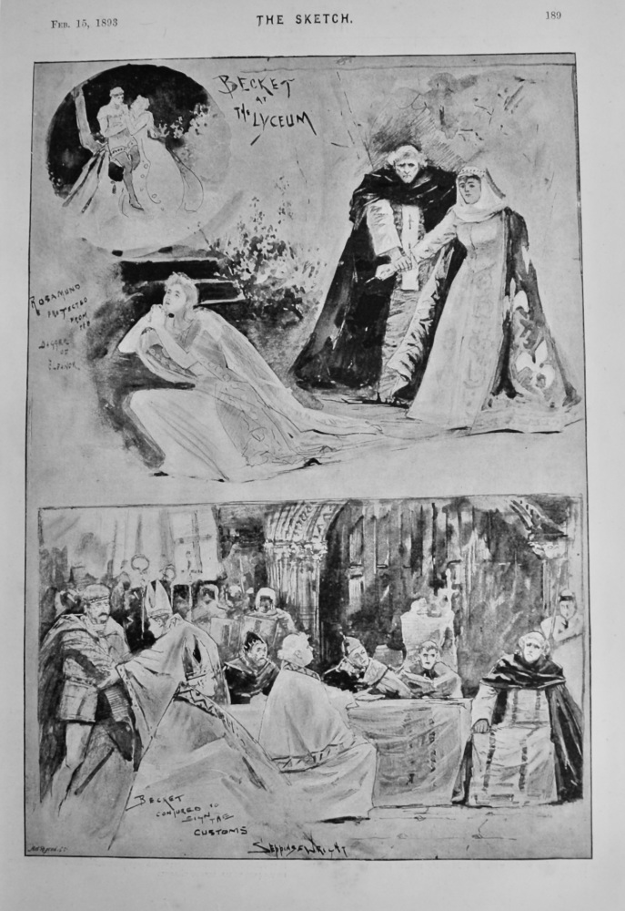Becket at The Lyceum.  1893.