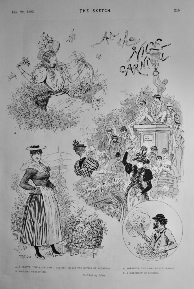 At  the Nice Carnival.  1893.