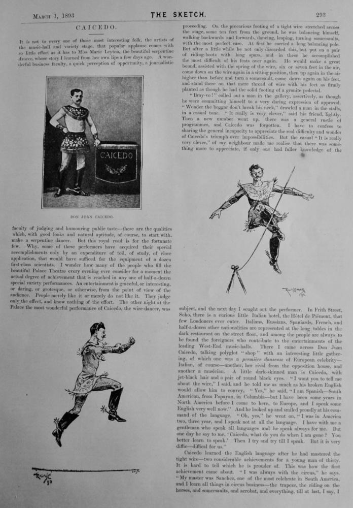 Don Juan Caicedo. (The Wire Dancer)  1893.