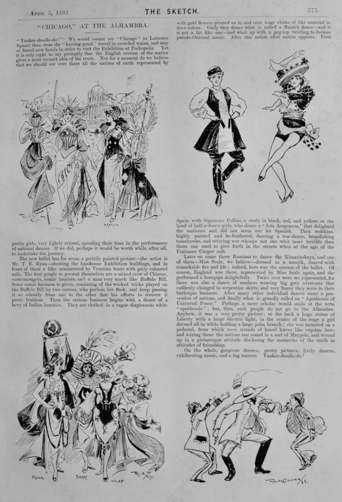 """""""Chicago,"""" at the Alhambra. 1893."""