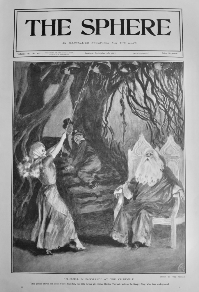 """""""Blue-Bell in Fairyland"""" at the Vaudeville.  1901."""