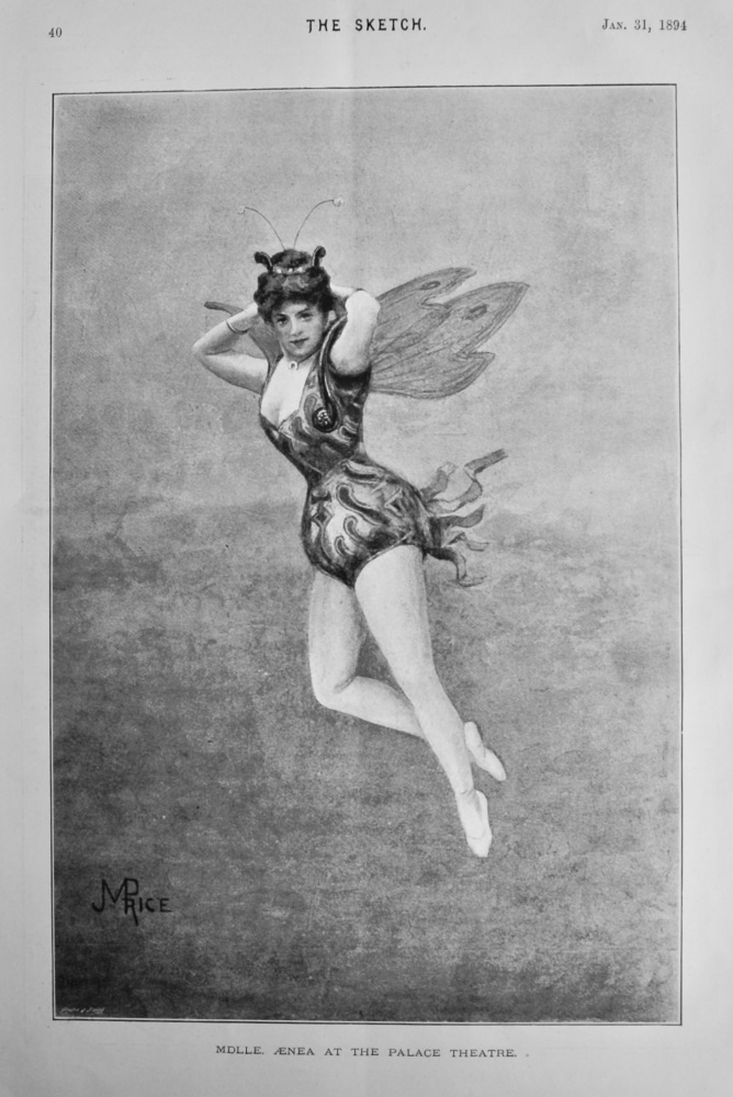 Mdlle. Aenea at the Palace Theatre.  1894.