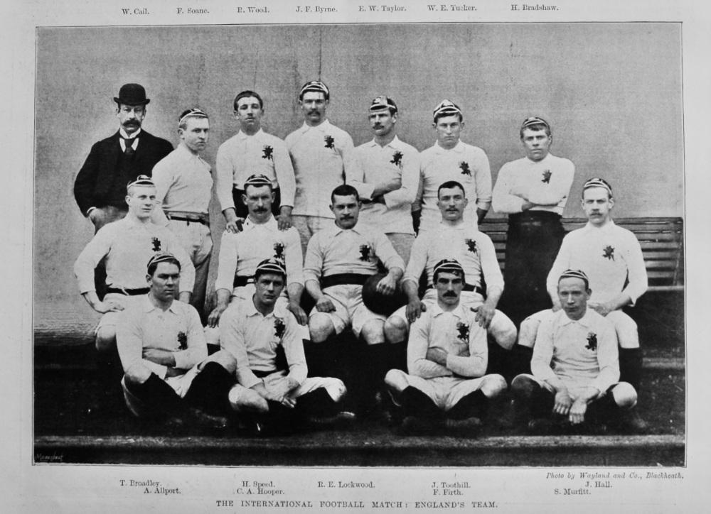 International Football Match :  England v. Ireland.  1894. (Rugby)