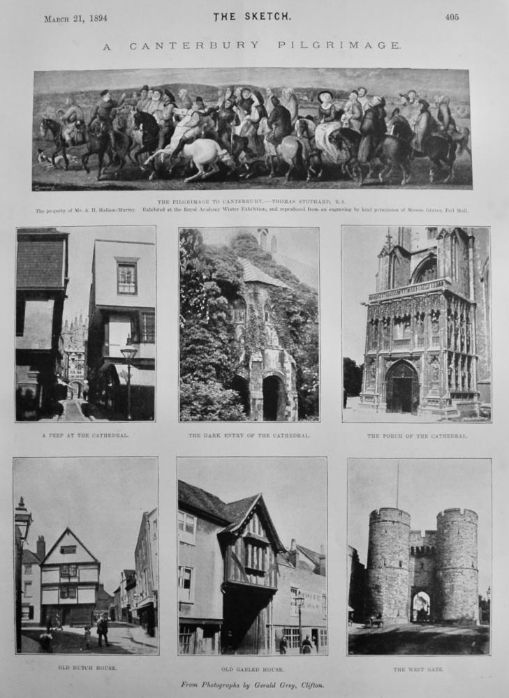 A Canterbury Pilgrimage.  1894.