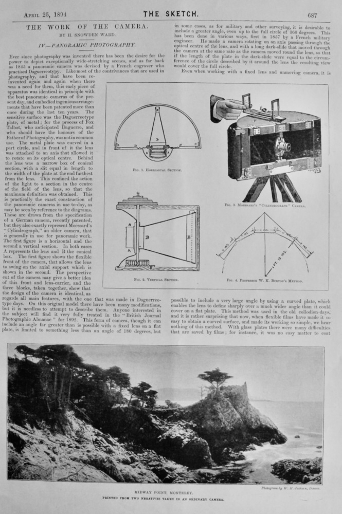 The Work of the Camera. :  IV.- Panoramic Photography.  1894.