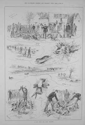 """A Run with the Eton Beagles.""  April 12th 1884."