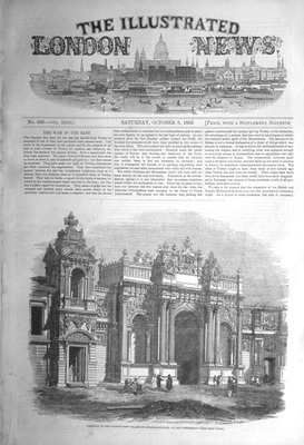Illustrated London News Oct 8th 1853.