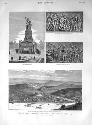 The German National Monument on the Niederwald. 1883.