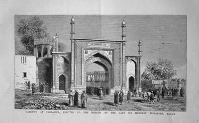 Gateway at Peshawar, Erected to the Memory of the Late Sir Herbert Edwardes, K.C.S.I.  1883.