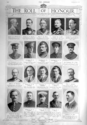 The Roll of Honour.  February 20th, 1915.