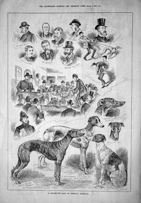 A Greyhound Sale at Rymill's, Barbican. 1884