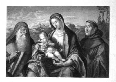 Virgin & Child with SS. Jerome and Francis.