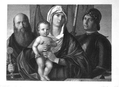 The Madonna and Child with SS. Paul and George.