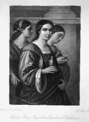 Saints Mary Magdalene. Barbara & Catherine.