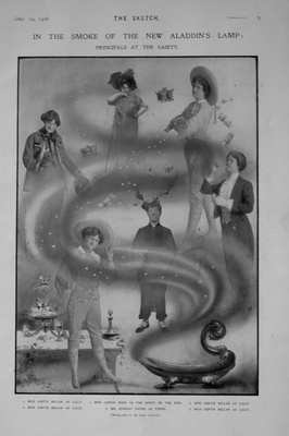 In the Smoke of the New Aladdin's Lamp at the Gaiety Theatre. 1906