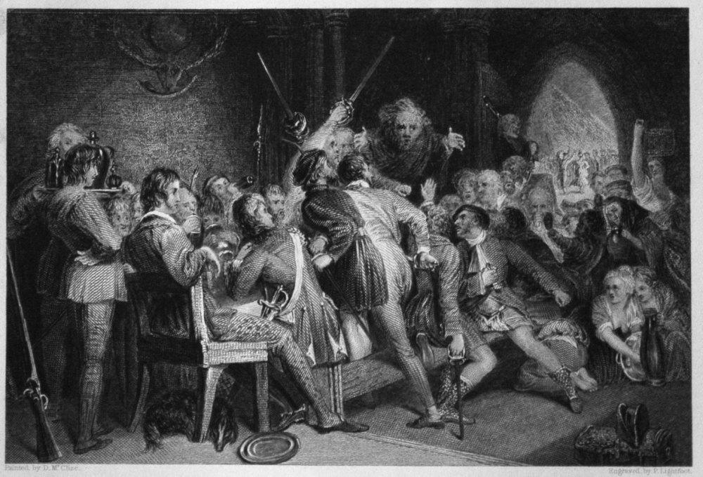 The Hall of Glennaquoich, - A Highland Feast.