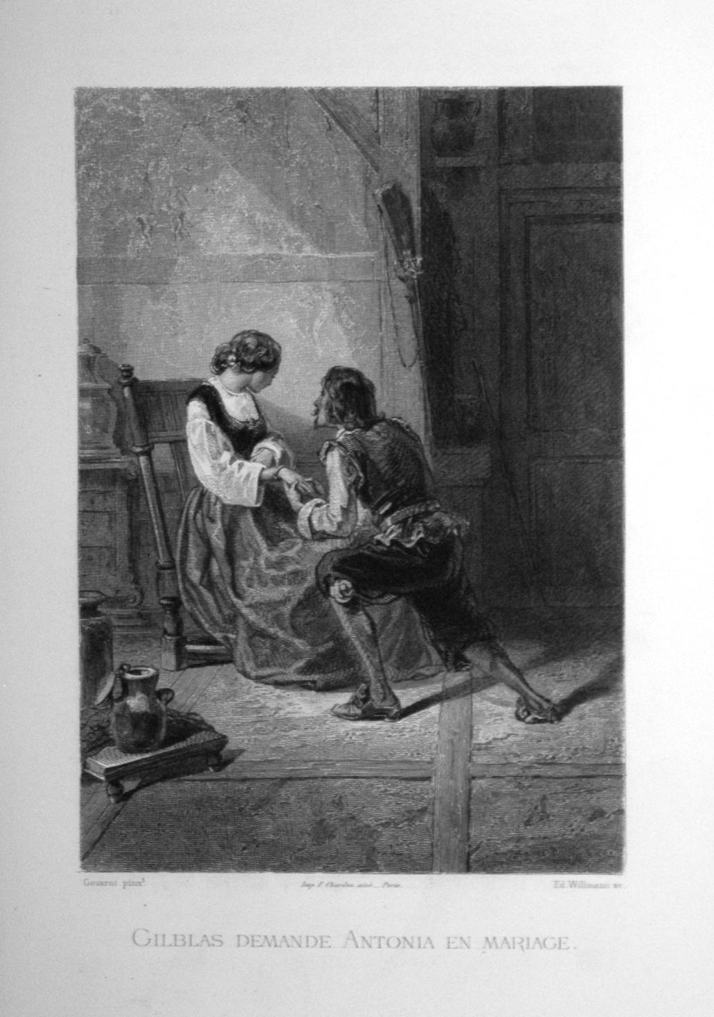 Gilblas demande Antonia en mariage.